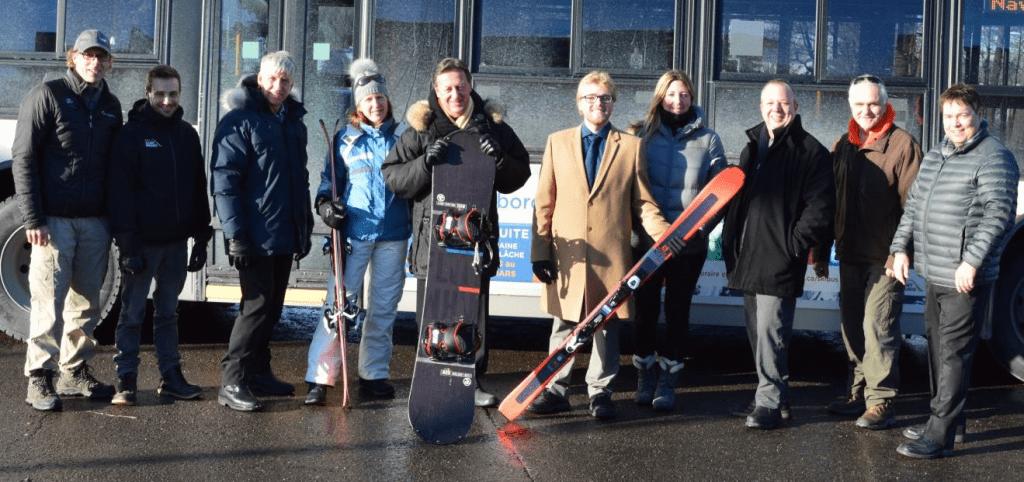 Un skibus pour aller à Ski Saint-Bruno