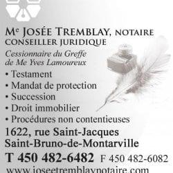 Notaire Josée Tremblay