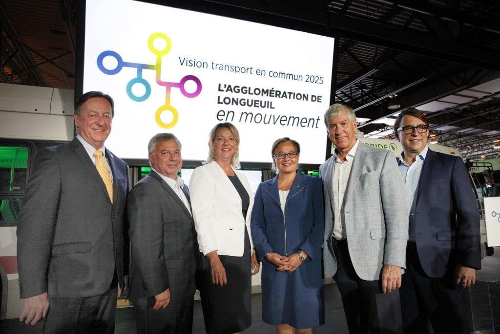 Les maires de l'agglomération de Longueuil s'unissent autour de la Vision du transport en commun 2025