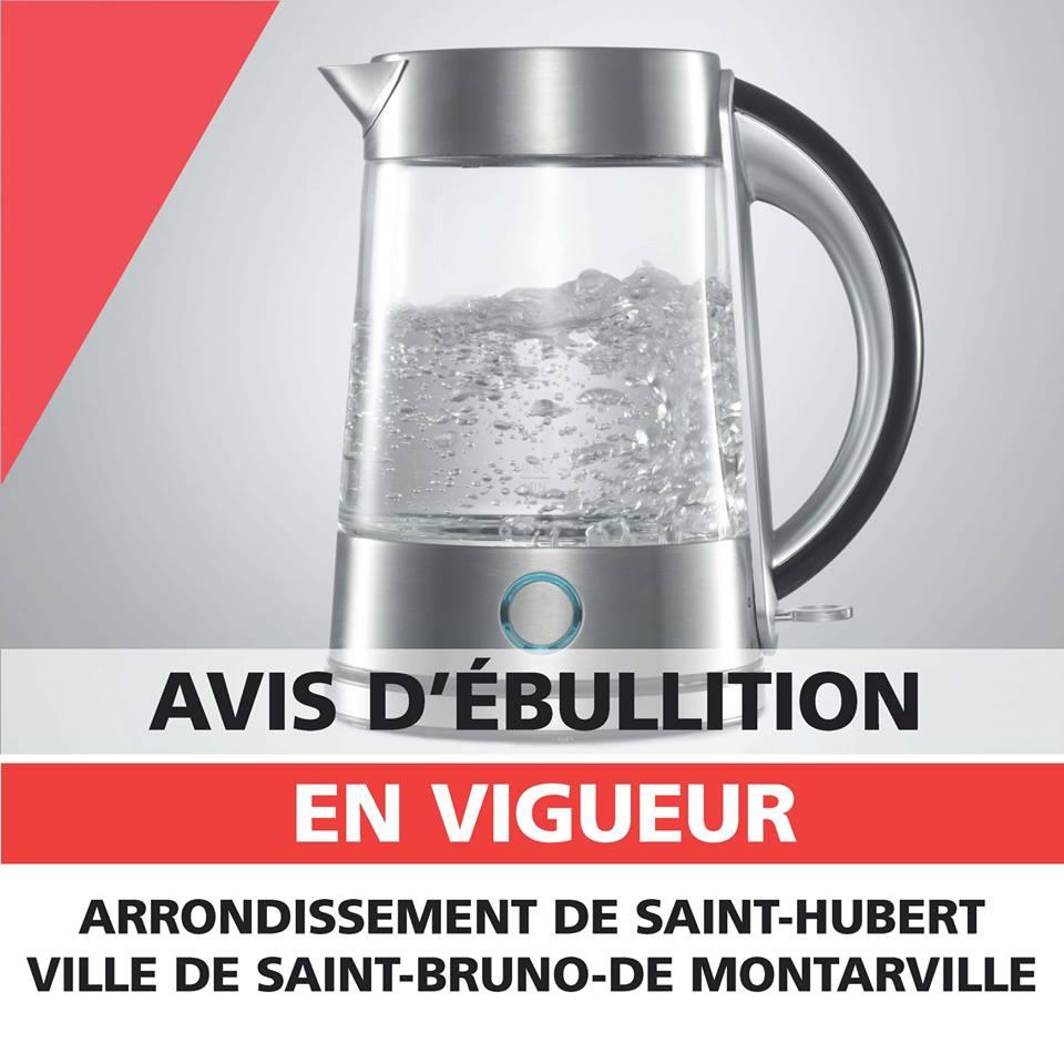 Avis d'ébullition d'eau pour Saint-Bruno-de-Montarville