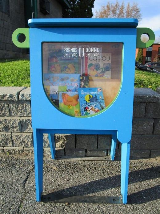 Boîte de partage Croque-livres dans les parcs de Saint-Bruno!
