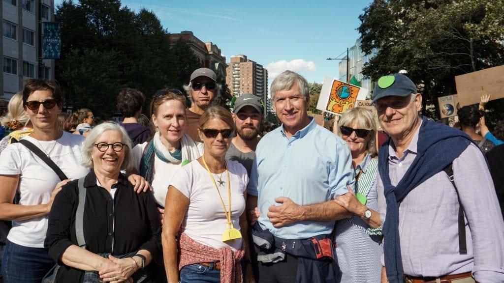 Le maire de Saint-Bruno, Martin Murray à la grande marche pour le climat