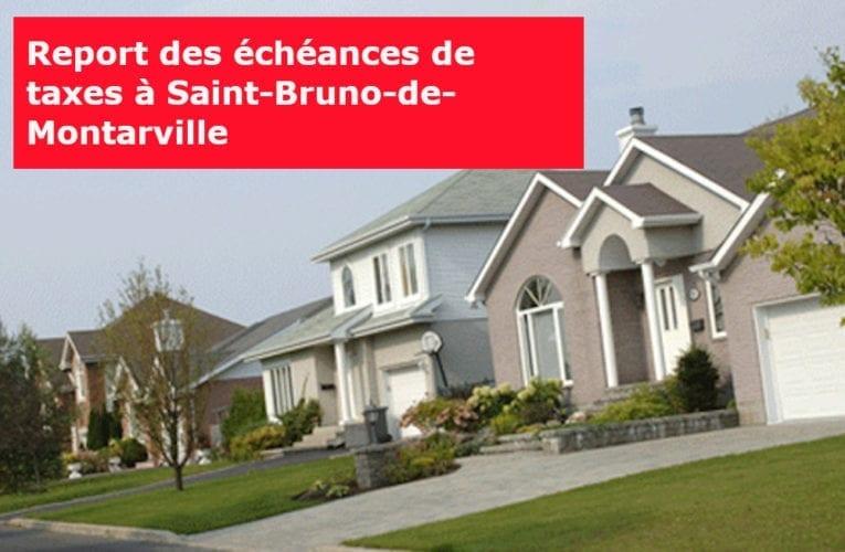 COVID-19 : Report des échéances de taxes à Saint-Bruno-de-Montarville