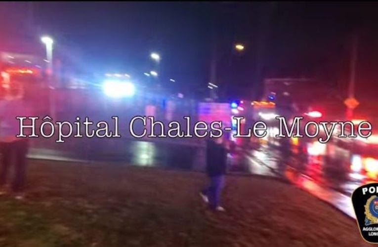 Haie d'honneur pour les hôpitaux Pierre Boucher et Charles-Le Moyne