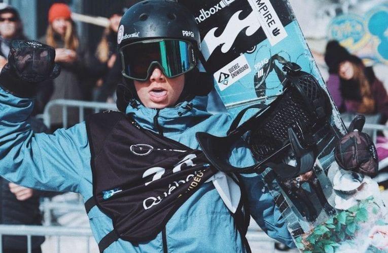 Le jeune athlète montarvillois de snowboard Jacob Legault, récompensé