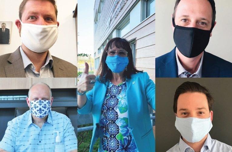 À vos masques: Des Élu(e)s et Députés portent le couvre-visage