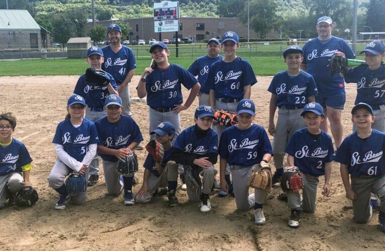 """Un exemple de détermination: l'équipe de baseball Moustique B """"Blue Sox"""""""