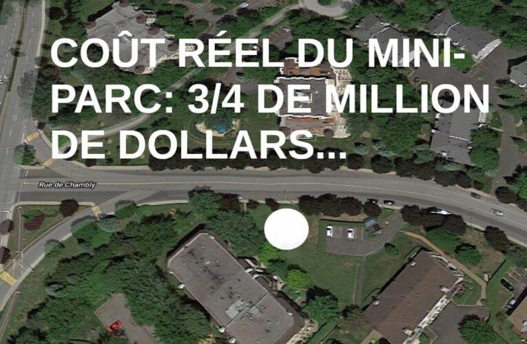Chronique du maire -Le mini-parc des Tilleuls sur la rue Chambly: Illogisme et non-sens