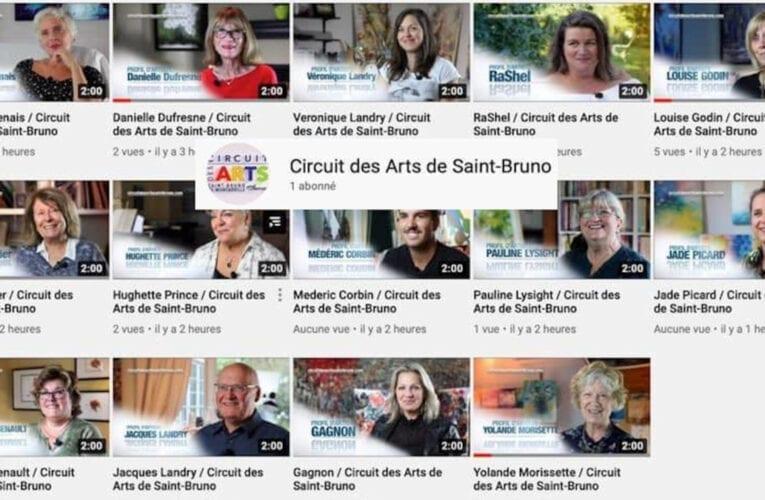 Lancement de la chaîne YouTube du Circuit des arts de Saint-Bruno.