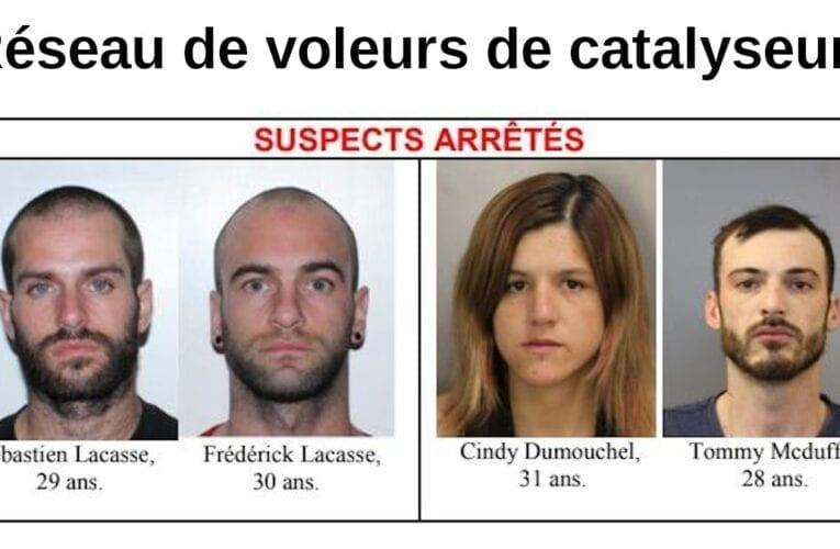 Épidémie de vols de catalyseurs à Saint-Bruno et dans  l'agglomération: 4 arrestations