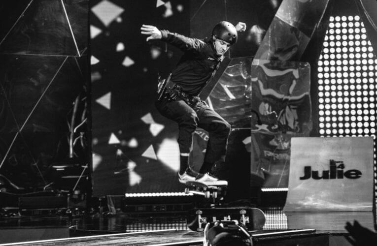L'agent du SPAL en skate à la semaine des 4 Julie