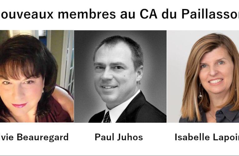 Trois nouveaux membres au sein du C.A. de la Société d'habitation Le Paillasson