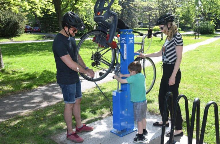Deux nouvelles bornes de réparation de vélo à Saint-Bruno-de-Montarville