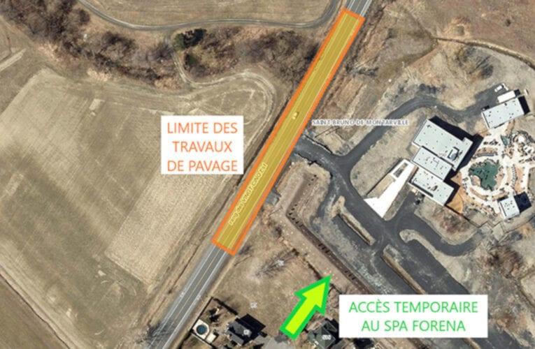 Saint-Bruno-de-Montarville: travaux sur le rang des Vingt-Cinq, Est en juin