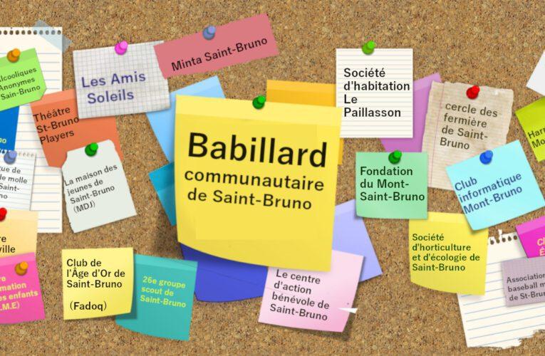 Babillard communautaire, 1er septembre